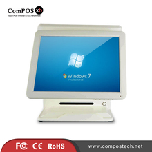 Good Cash Register With Dual Resistive Touch Screen All In One PC With Built-in Card Reader