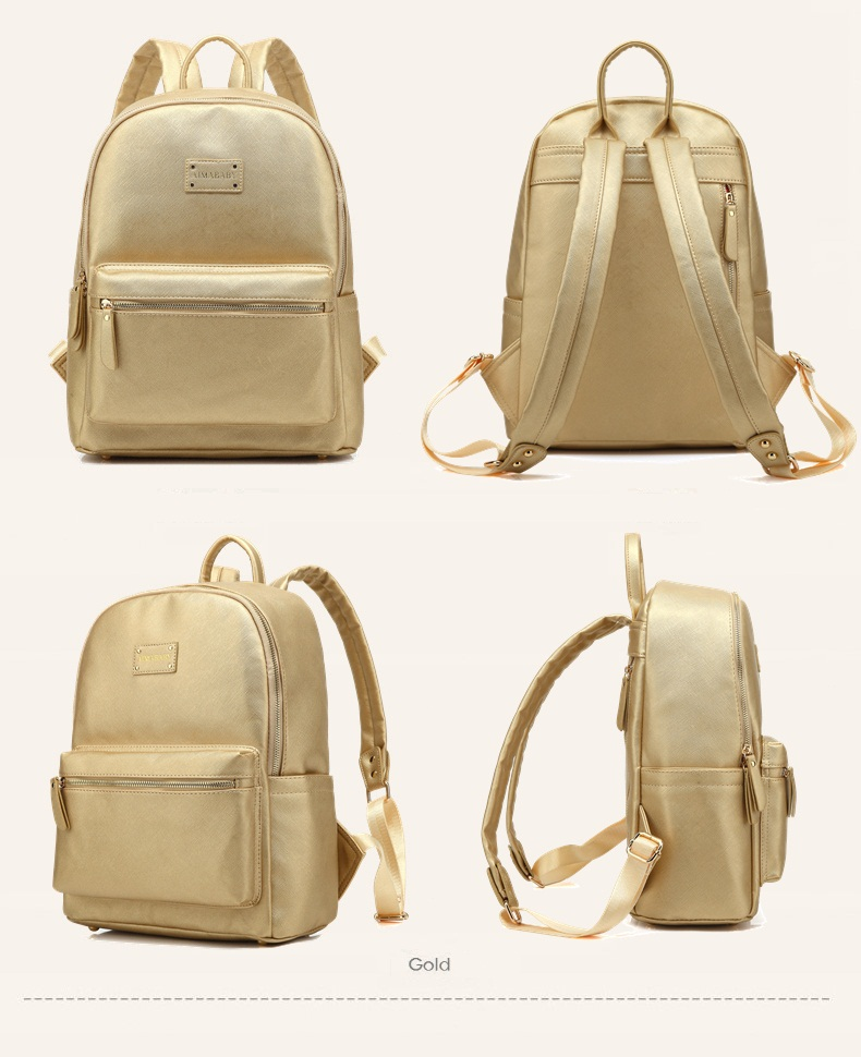 Baby Care Bags Faux Leather Diaper Backpack Woman Fashion Mummy Maternity Bag Nappy Changing Travel Organizer For Mother & Kids lequeen maternity mummy diaper bag baby care travel outdoor nappy backpack handbag bag for mother backpack nappy changing bags