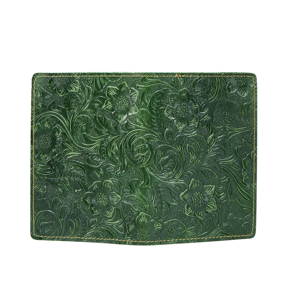 K018-Women Passport Cover Purse-Green-03(10)