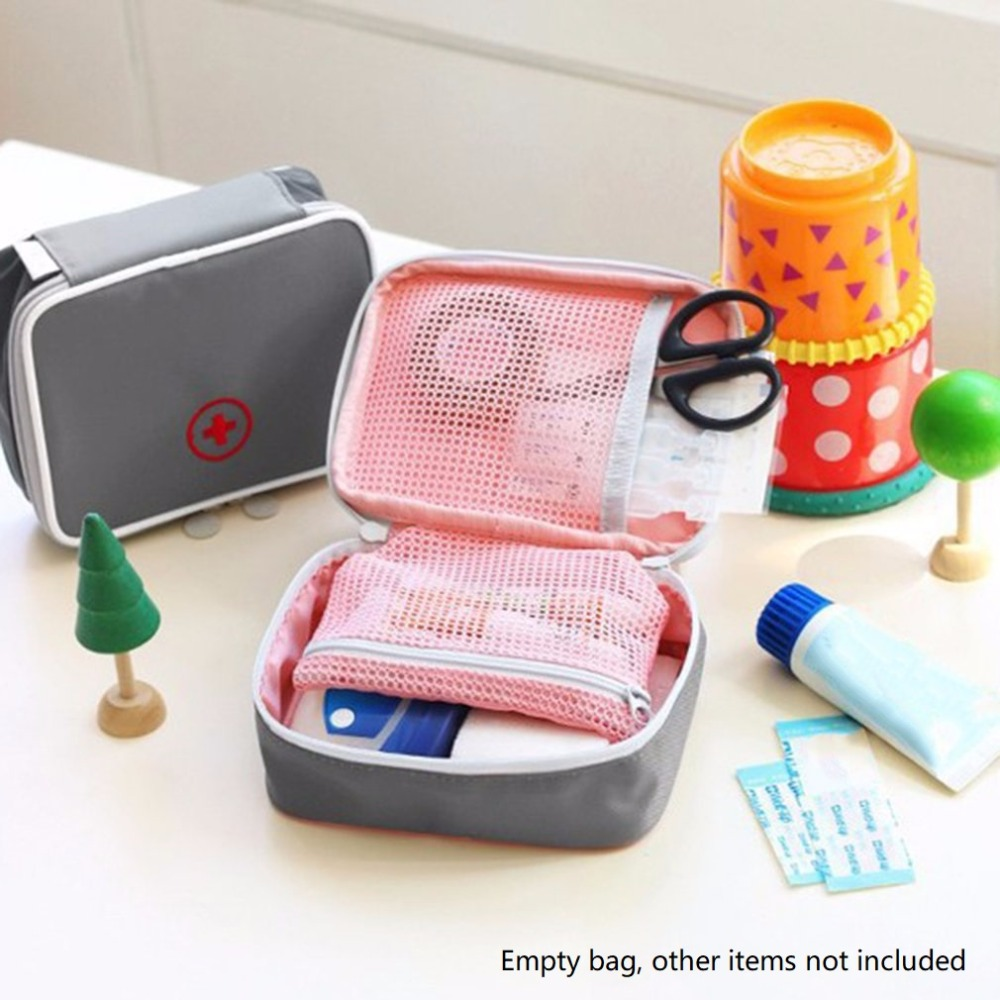 Cute Portable Mini Outdoor First Aid Travel Medicine Package Emergency Kit Pill Storage Bag Small Organizer Camping Survival baby toys montessori wooden geometric sorting board blocks kids educational toys building blocks child gift