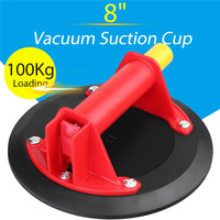 Hand Pump Glass Suction Plate Vacuum Suction Cup Metal Handle Pumping Sucker Hand Pump for Glass Wood Granite Lifting Diameter8'