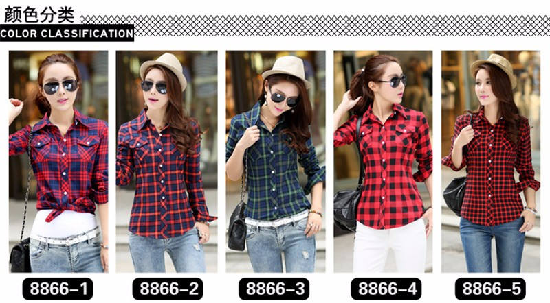 checked blouse 01