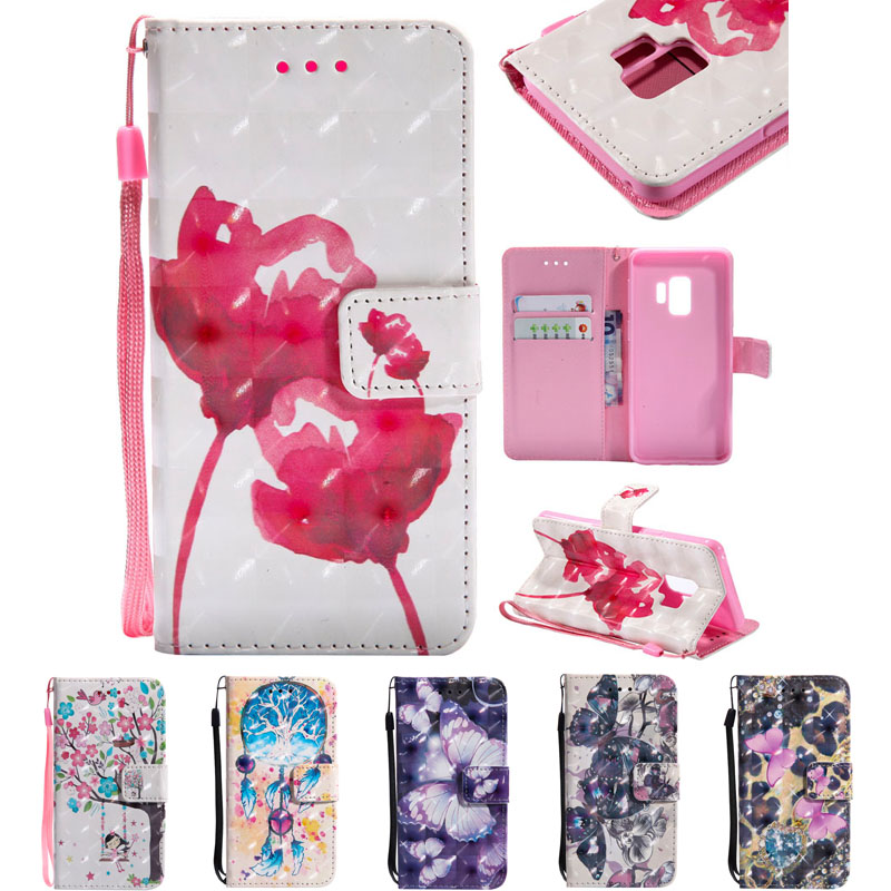 For SamsungS9 PU Leather Cases For Samsung Galaxy S9 Cases Wallet Stand Slot Full Housing Book Flip Covers On For GalaxyS9 S 9