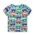 Meninos de verão T-shirts 100% Algodão Impresso T-shirt Para Meninos 2-8 Anos Meninos Camisas Curto-luva Roupa Dos Miúdos marca Crianças Tops