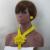 Amarelo luxo Colar Mulheres Jóias Set 2017 Flor Broche De Cristal Pingente Colar Brincos Set Noiva Frete grátis WD557