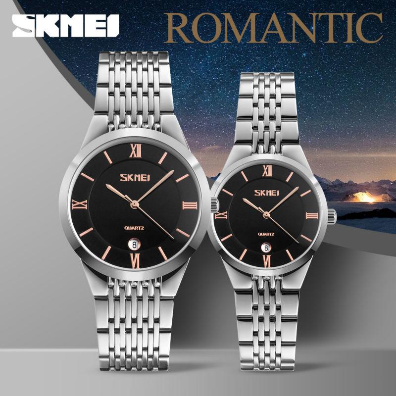 SKMEI Brand Lovers Quartz Men Watch Women Watches