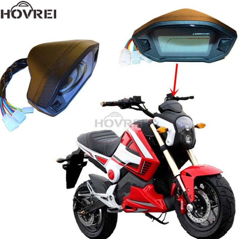 12v Universal Black Motorcycle Lcd Digital Speedometer