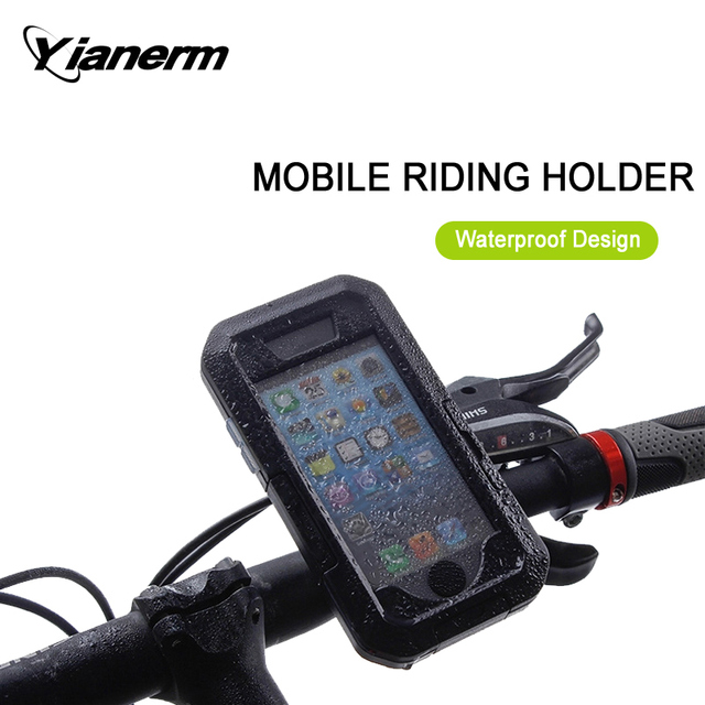 Yianerm Newest Waterproof Cover Case MTB Cycling Outdoor Shockproof Phone Case Phone Stand Holder For iPhone5s/SE/6s/6plus