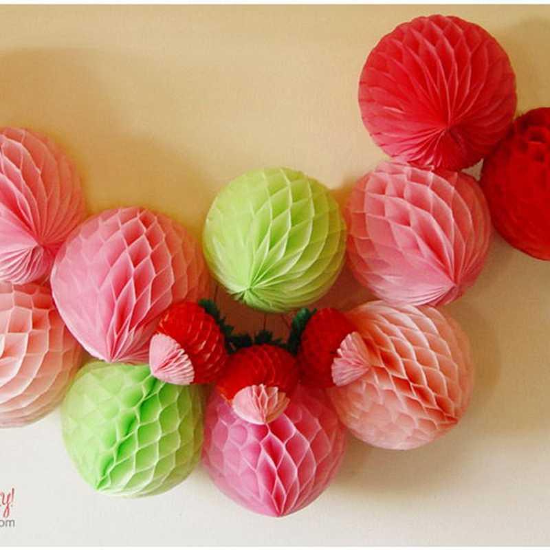 4 дюйма (10 см) Декоративные тканевые бумажные соты шары цветок Пастель день рождения, детский душ свадьба для праздников и вечеринок украшения