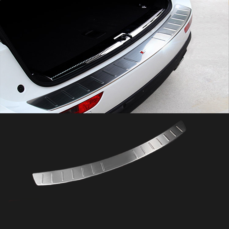 AUDI A4 AVANT 2008-2016 REAR BUMPER SILL COVER PROTECTOR BRUSHED STAINLESS STEEL