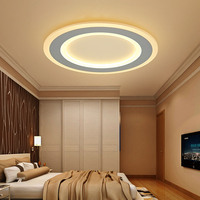 Surface Mounted Round Modern Led Ceiling Chandelier For Living Room Dining Room Bedroom Ultra Thin Ceiling