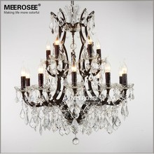 newly red k9 crystal chandelier lustre crystal chandelier optional lustres de cristal chandelier ac guaranteed free shipping Free Shipping Crystal Chandelier Light Fixture Rust Iron Lustres de Cristal Hanging Lamp Indoor Lighting with Good K9 Crystal