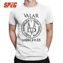 Game Of Thrones Graphic T-Shirt Arya Stark Valar Morghulis Men T Shirts Vintage Short Sleeves Tees Round Neck Cotton Clothes цена и фото