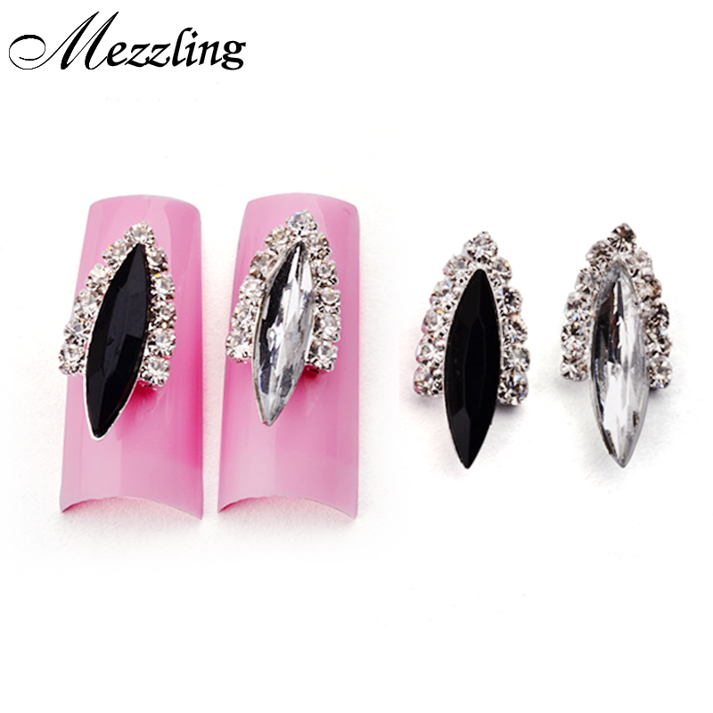2015 New Arrive Black Crystal Strass Nail Rhinestone Alloy 3D Nail Jewelry,DIY Charm Design Nail Art Tools 2014 new arrive rose flowers nail decorations 7mm 24pcs set 3d alloy charm design manicure nail art accessories