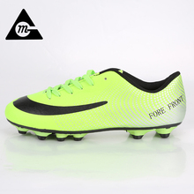 2017 New Football Boots Men Soccer Cleats Bright High Ankle Breathable Football Shoes Original Big Size Soccer Boots S6666