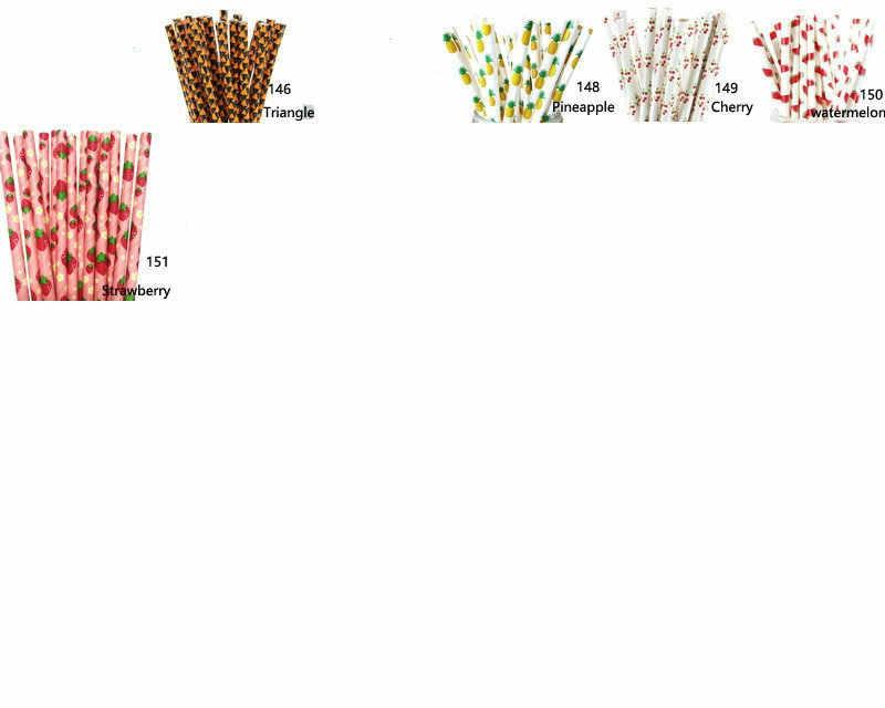 מכירה לוהטת 100 pcs נייר קשיות נייר שתיית קשיות לילדים יום הולדת מסיבת חתונת קישוטי הבחירה שלך של 193 צבעים