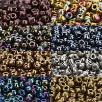 Fostfo 500 stücke 4mm 8 Tiefe Farben Kristall Perlen Tschechische Seed Perlen Lose Glas Spacer Seedbeads Für Schmuck Zeug perles Berloque