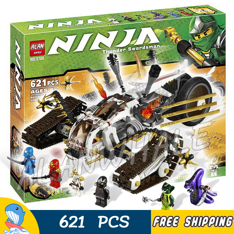ФОТО 621pcs 2015 new Bela 9788 Ninja Ultra Sonic Raider Building Blocks Set Toys Gifts Ninja Kids Toys Compatible with Lego