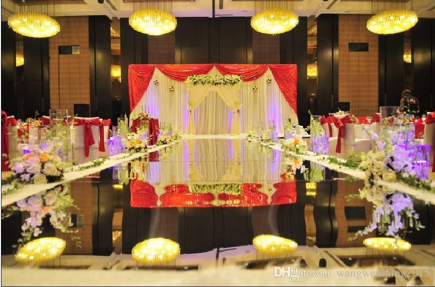 Luxus Dekor Gold Silber doppelseitige Spiegel Teppich Gang Läufer - Partyartikel und Dekoration - Foto 5