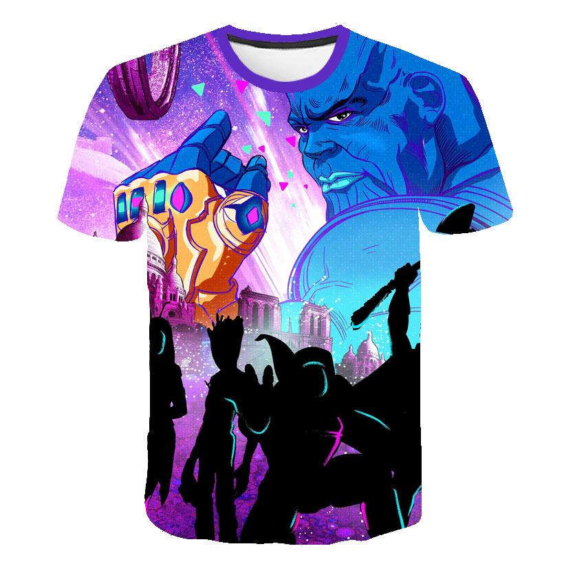2019 New design t shirt men women Avengers Endgame 3D print t shirts Short sleeve Harajuku style tshirt tops AS SIZE in T Shirts from Men 39 s Clothing