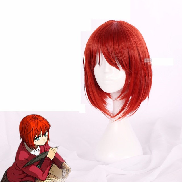 Mahoutsukai no Yome Hatori Chise Short Orange Red Heat Resistant Cosplay Costume Wig + Track + Cap-in Anime Costumes from Novelty & Special Use