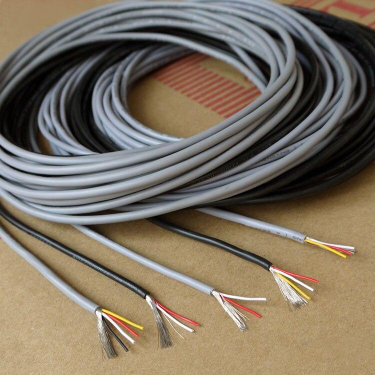 UL2464 28AWG Netzkabel Softkabel 2//3//4//5//6//8//10 Core Signal Control Wire Schwarz