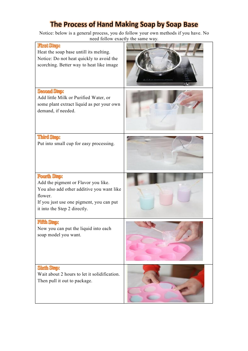 The Process of Hand Making Soap by Soap Base0000