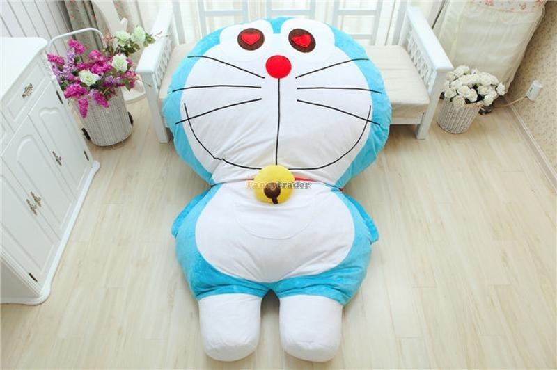 Fancytrader High Quality Doraemon Bed 200cm X 150cm Huge Giant Doraemon Tatami Bed Carpet Sofa, Model 4 Free Shipping FT90271 fancytrader high quality goat bed 200cm x 150cm super cute huge giant pretty goat tatami carpet sofa bed free shipping ft90295