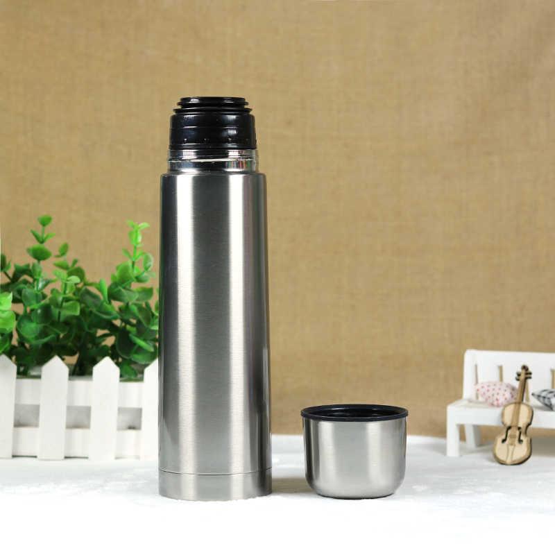 500 мл бутылка для воды термо термос с крышкой-чашкой Спорт на открытом воздухе посуда для напитков garrafa termica Бесплатная доставка