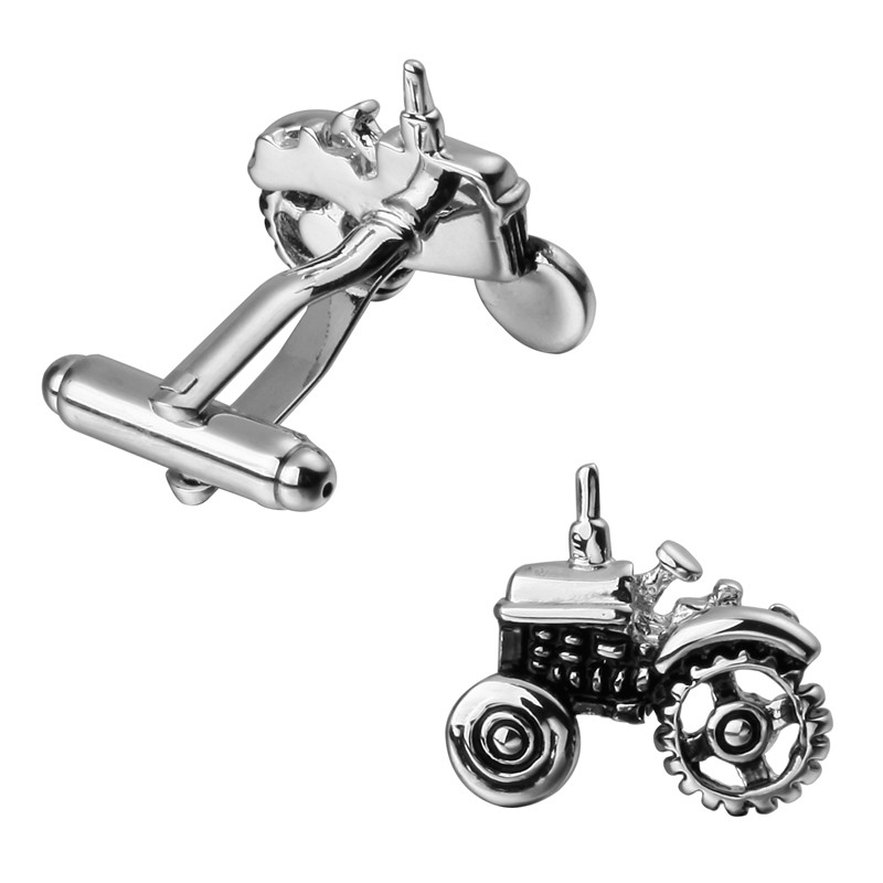 A pair of high quality brass material silver small car cufflinks new retail wholesale fashion mens shirts cufflinks