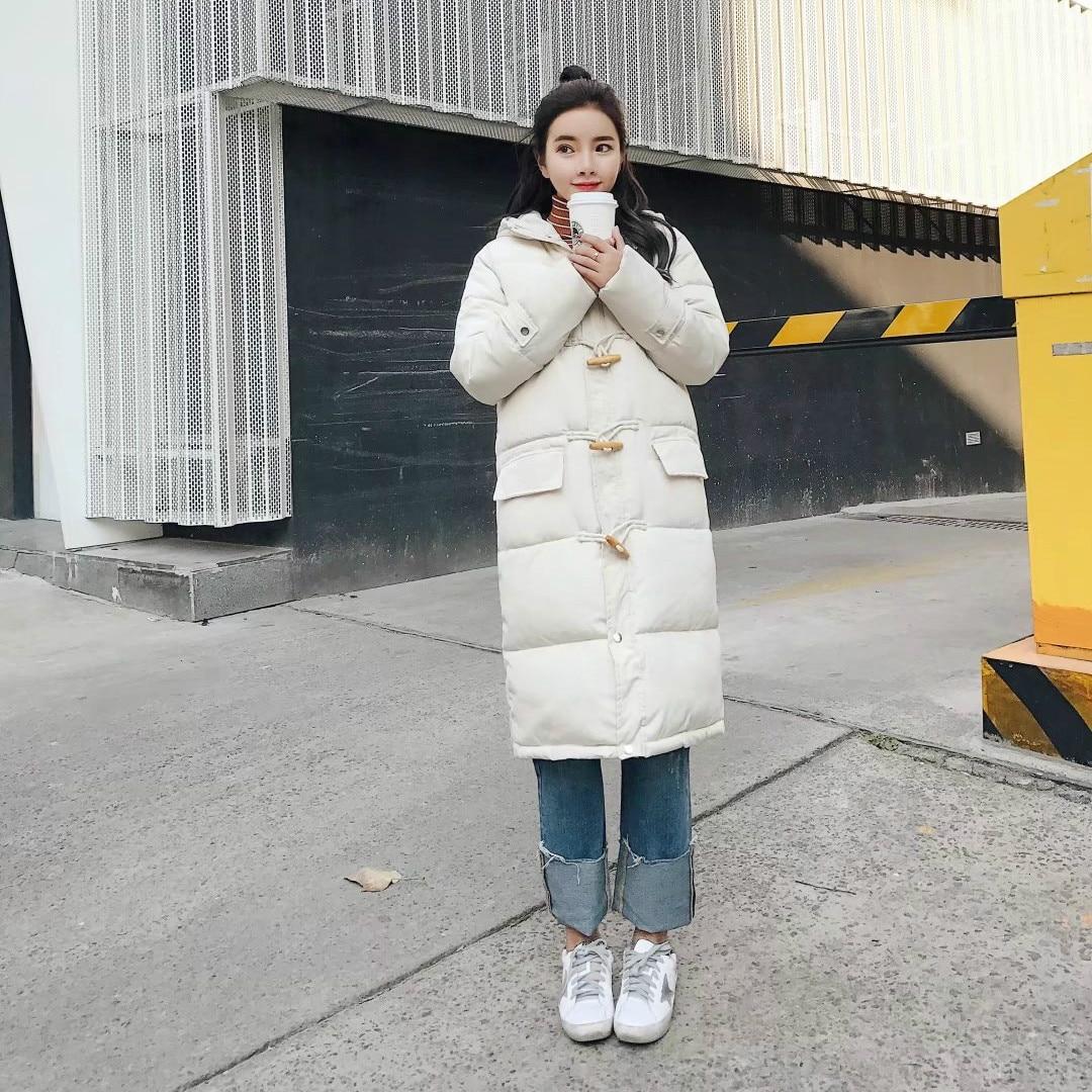 Pain Rembourré Corne Veste 2018 Femelle Hiver Sœur Long Coton Bouton pink Mode black chens Manteau Femmes Coréenne Apricot Nouvelle X6PwqxZg
