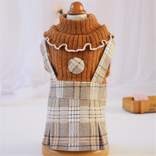 Small Dog Dress 2019 Autumn/Spring/Winter Clothes Pet Puppy Cat Dresses Chihuahua Poodle Bichon Pug Plaid Skirt Clothing#ST5