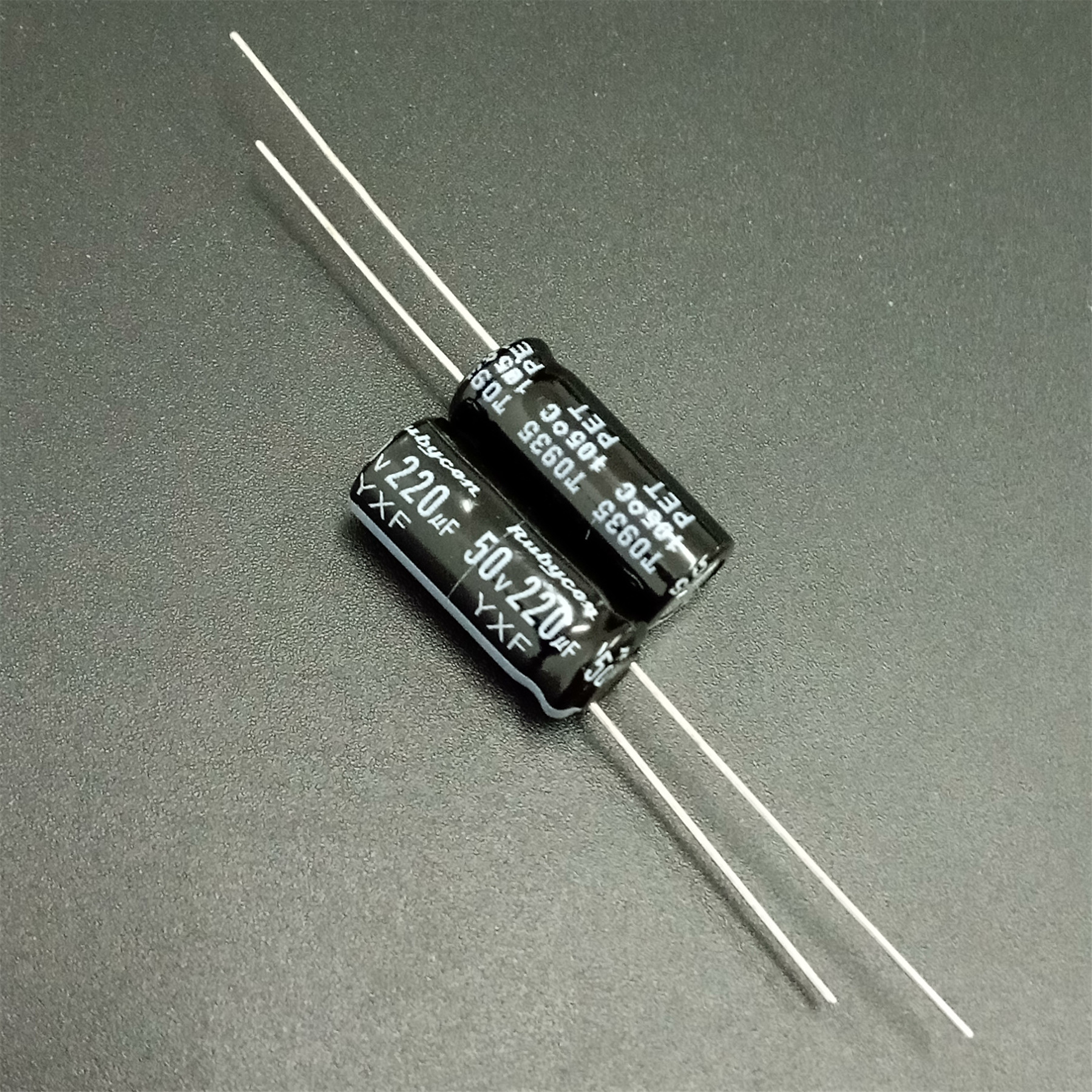 10pcs 220uF 50V Rubycon YXF Series 8x20mm Low Impedance Long Life 50V220uF Aluminum Electrolytic Capacitor