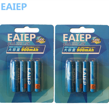 Ni-MH (600mAh-900mAh) AAA Batteries 1.2V AAA Rechargeable Battery Low Self-Discharge EAIEP 4pcs lot new masterfire ni mh aaa 2 4v 800mah ni mh battery rechargeable cordless phone batteries pack with plugs