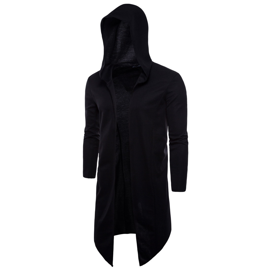 New Men Cardigan Coat Sweaters Hooded Cloak Long Windbreaker Cloak Coat Knitted Sweater Big Size 5XL Cardigans Outerwear