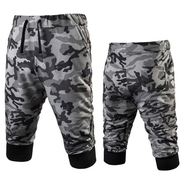 Mens Military Camouflage Shorts Summer Bodybuilding Sweat Shorts Army Camo Casual Mama Shorts Harem Capri Baggy Boardshorts