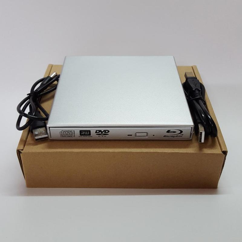 Sliver slim USB 2.0 External BD Blu Ray DVD RW DVD DL CD RW Drive Writer Burner For WINDOWS XP/7/8/10 Mac Desktop Laptop