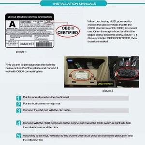 Image 5 - WiiYii HUD E350 자동차 헤드 업 디스플레이 자동 속도 알람 OBD2 윈드 스크린 프로젝터 자동차 전자 데이터 진단 도구