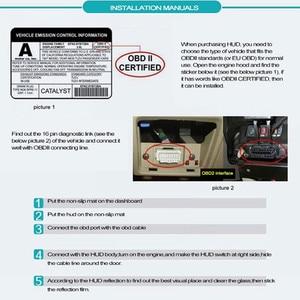 Image 5 - WiiYii pantalla frontal de coche HUD E350, alarma de velocidad automática OBD2, proyector de parabrisas, electrónica de coche, herramienta de diagnóstico de datos