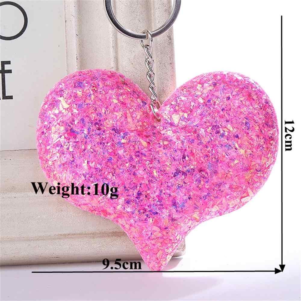1Pcs Moda Bonito Glitter Keychain Chaveiro Coração Para As Mulheres Meninas Bolsa Estrela Pingente Carro Chaveiro Llavero Jóias Bugiganga