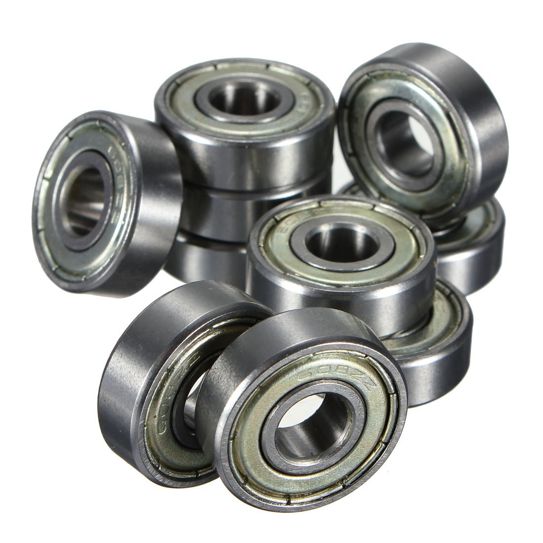 BOFO 10 pcs. Ball bearings miniature deep groove ball bearings 608 ZZ 8 x 22 x 7mm Bearing Steel image