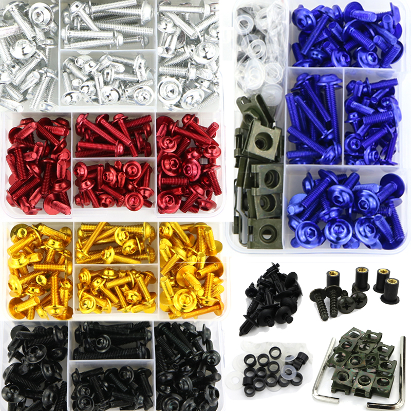 Full Fairing Bolts Kit Body Screws For Suzuki GSR600 GSR750 GSR1000 GSX250R GSX650F GSX750S Katana GSX1000S Katana GSXS1000 FFull Fairing Bolts Kit Body Screws For Suzuki GSR600 GSR750 GSR1000 GSX250R GSX650F GSX750S Katana GSX1000S Katana GSXS1000 F