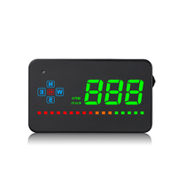 A2 GPS pantalla frontal para coche velocímetro Proyector a bordo pantalla HUD Proyector Auto HUD advertencia de velocidad diagnóstico de datos