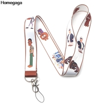 Homegaga Brickleberry cartoon strap movie neck lanyards keys glasses holder bead keychain phones cameras webbing ribbon D1997