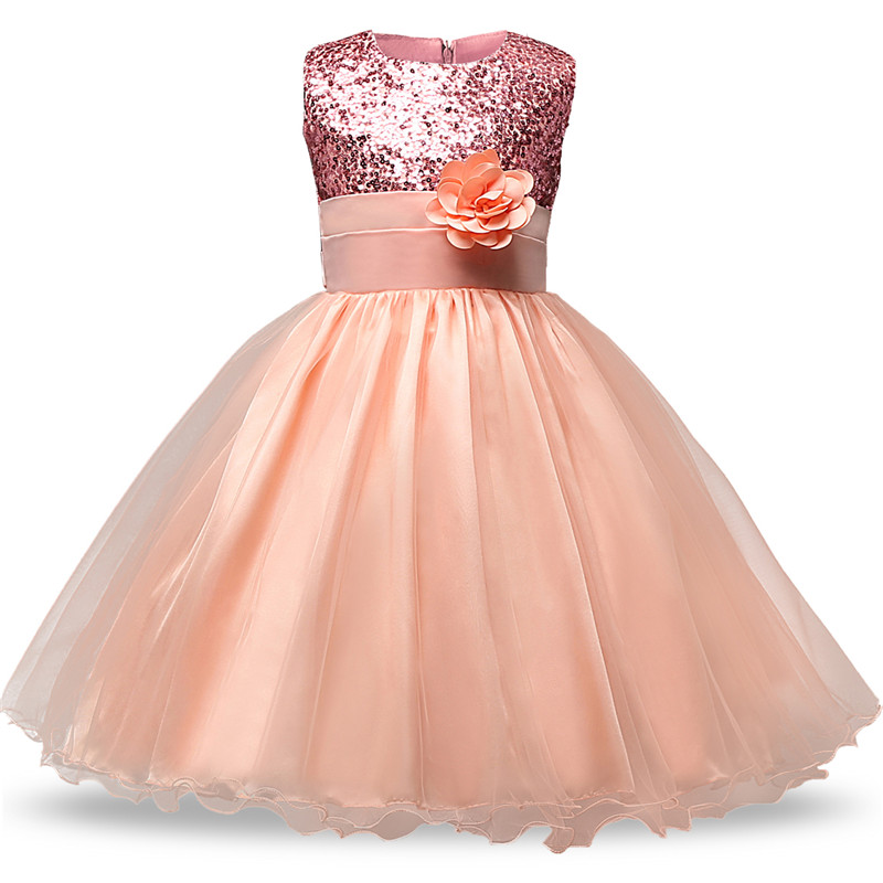 Prom Gown For Senior Junior Teens Solid Sequin Dress Bridal Gown For Wedding Ceremony Flower Baptism Dress For Teenage Girls