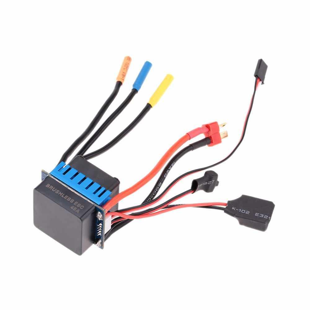 RC F540 4370/3930/3300/3000kv Sensorless Brushless Motor & 45A Tanpa Sikat ESC + Program Kartu 1/10 RC Mobil Balap Perahu