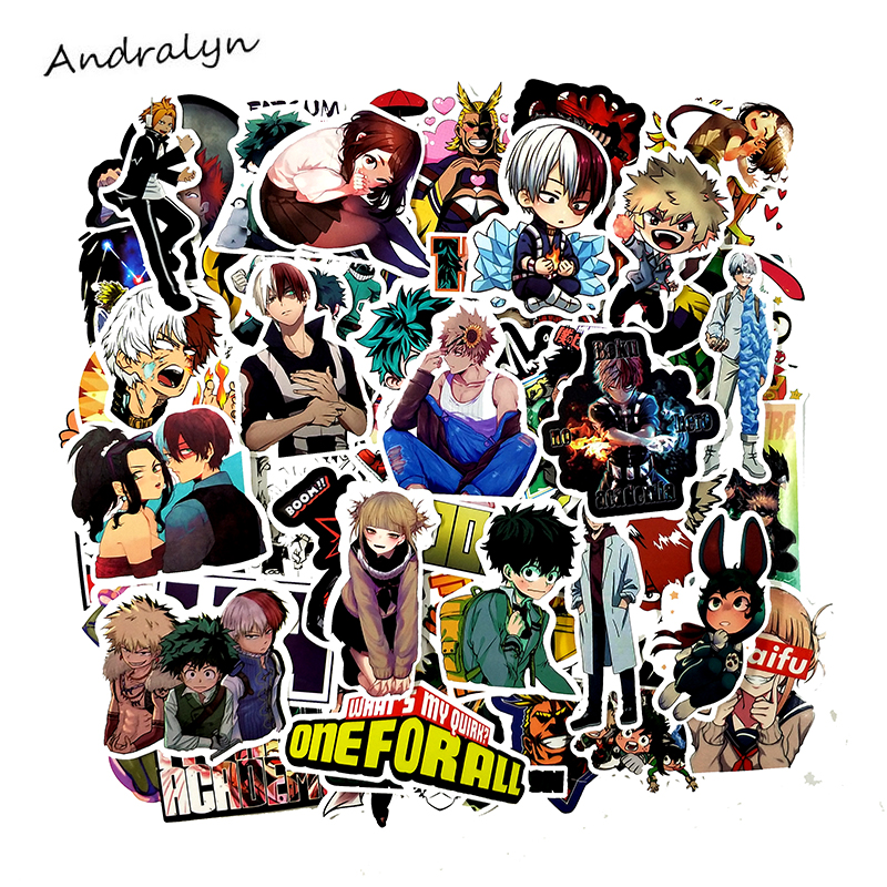 73 Pcs/pack My Hero Academia  Anime Stickers For Motorcycle Skateboard Laptop Luggage Car Fridge 2019 DIY Vinyl Sticker