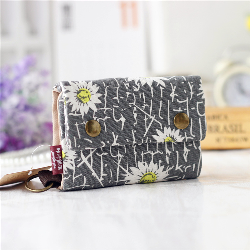 Canvas printing women credit card ID holder bag business card ...