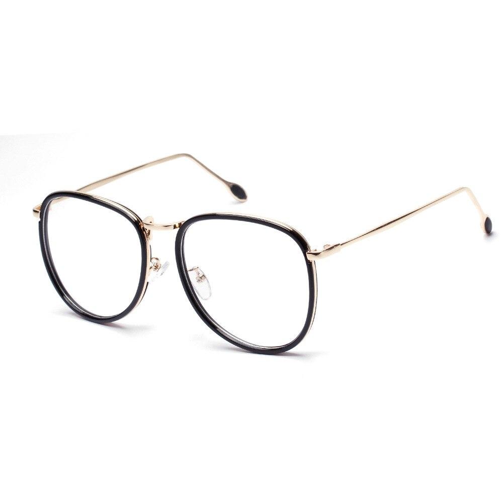 2016 mode Brillen Vintage Pilot Eyewear Big Gold Frame Brille frauen ...