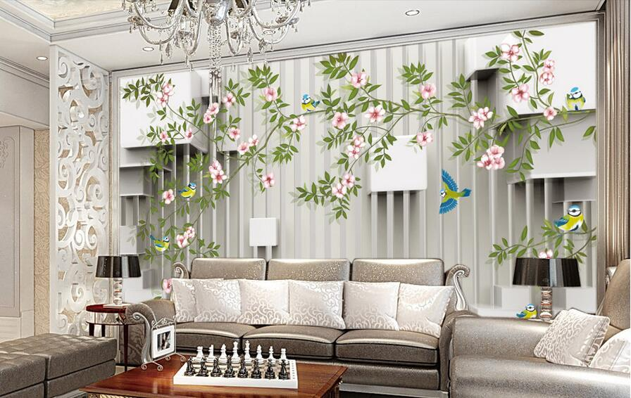 3d room wallpaper custom mural non woven wall sticker 3 d for Custom mural painting